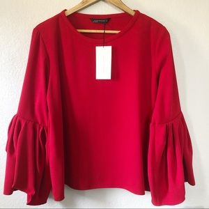 Zara Dramatic Bell Sleeve Top